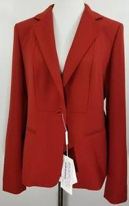 Max Mara Vera Crimpson Red Jacket Msrp $995.00